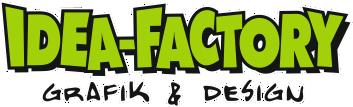 """Idea-Factory  """"Grafik & Design in Neuenburg"""" Logo"""